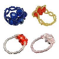 Crystal Glass Seed Beads Finger Ring