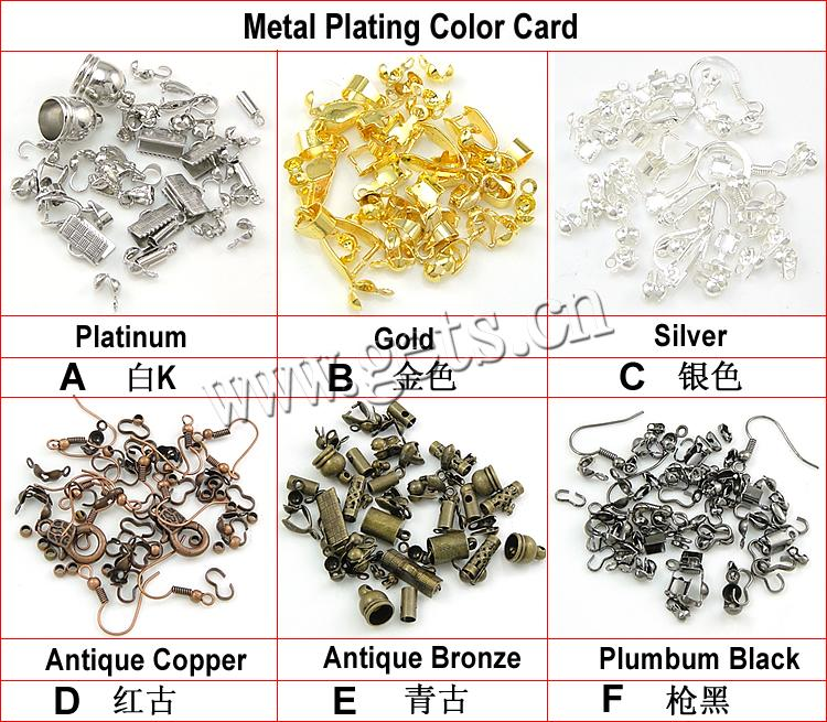Brass Lever Back Earring Wires, plated, more colors for choice, nickel, lead & cadmium free, Hole:Approx 2mm, Sold By PC