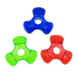 Plastic Pony Beads, solid color, mixed colors, 10.5x10x4mm, Hole:Approx 2mm, Approx 3000PCs/Bag, Sold By Bag