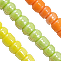 Opaque Lustrous Glass Seed Beads