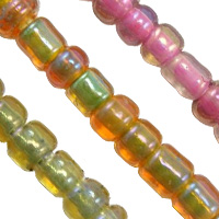 Transparent Color lined Glass Seed Beads