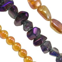 Colorful Plated Quartz Beads