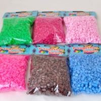 Hama Fuse Beads, Plastic, Column, mixed colors, 5mm, Approx 1000PCs/Bag, Sold By Bag