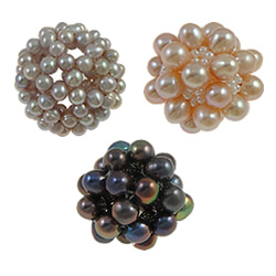 Ball Cluster Cultured Pearl Beads