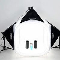 Mini Photo Studio Set, Lylon, softbox & photo studio & ​light stand, with Aluminum, stoving varnish, attached with four backdrops, 500x700mm, 1200x1200x1200mm, Sold By Set