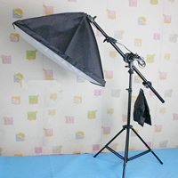 Photography Light Kit, Aluminum, softbox & ​light stand, with Lylon, stoving varnish, nickel, lead & cadmium free, 500x700mm, Sold By Set
