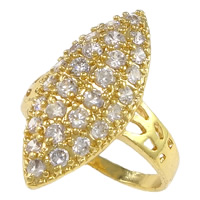 Cubic Zirconia Micro Pave Brass Finger Ring, Horse Eye, plated, micro pave cubic zirconia & hollow, more colors for choice, nickel, lead & cadmium free, 24.5mm, US Ring Size:8, Sold By PC