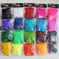 Loom Bands, Rubber, with plastic C clasp or S clasp & attachted crochet hook & DIY & for children, more colors for choice, 2mm, 600PCs/Bag, Sold By Bag