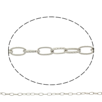 Iron Oval Chain, plated, more colors for choice, nickel, lead & cadmium free, 8x4.5x1mm, Sold By m