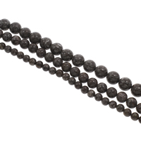 Snowflake Obsidian Bead, Round, different size for choice, Hole:Approx 1mm, Length:Approx 15 Inch, Sold By Strand