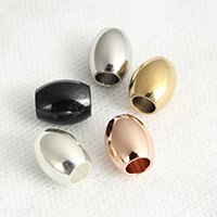Stainless Steel Beads, Oval, plated, different size for choice, more colors for choice, Sold By PC