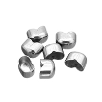 Stainless Steel Bead Tips, original color, 6x4.5x4mm, Hole:Approx 5x3mm, Sold By PC