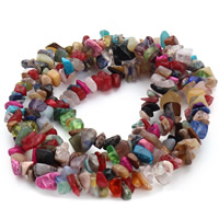 Mixed Gemstone Beads, Nuggets, 5-8mm, Hole:Approx 1.5mm, Length:Approx 31 Inch, Approx 120PCs/Strand, Sold By Strand