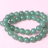 Green Aventurine Bead, Round, natural, different size for choice, Hole:Approx 1mm, Length:Approx 15 Inch, Sold By Strand