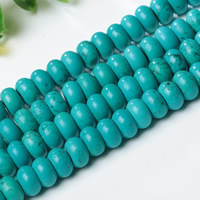 Synthetic Turquoise Beads, Rondelle, different size for choice, Hole:Approx 1mm, Length:Approx 15 Inch, Sold By Strand