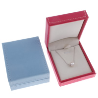 Cardboard Necklace Box, with Velveteen, Rectangle, more colors for choice, 70x85x37mm, Sold By PC