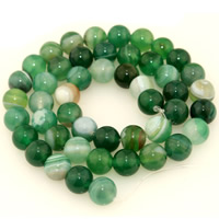 Natural Lace Agate Beads, Round, different size for choice, green, Length:Approx 15.5 Inch, Sold By Strand