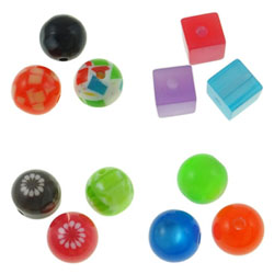 Solid Color Resin Beads