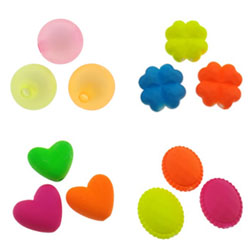 Frosted Acrylic Beads
