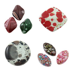 Speckled Acrylic Beads