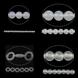 Natural White Agate Beads