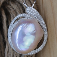 Cultured Freshwater Nucleated Pearl Pendant