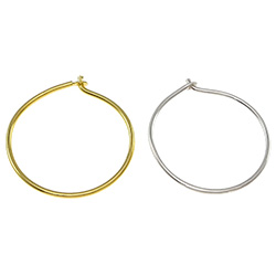 Sterling Silver Hoop Earring Component