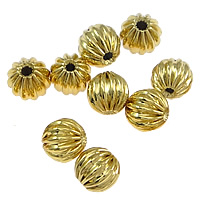 Gold Filled Corrugated Beads