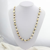 Crystal Freshwater Pearl Sweater Necklace