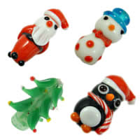Christmas Porcelain Beads